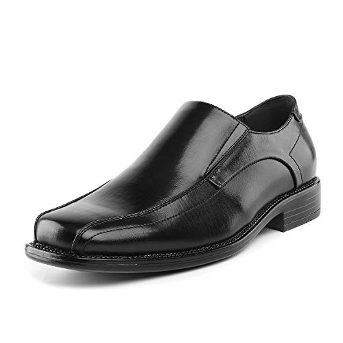Bruno Marc Men s State-01 Black Leather Lined Dress Loafers Shoes - 7.5 M US