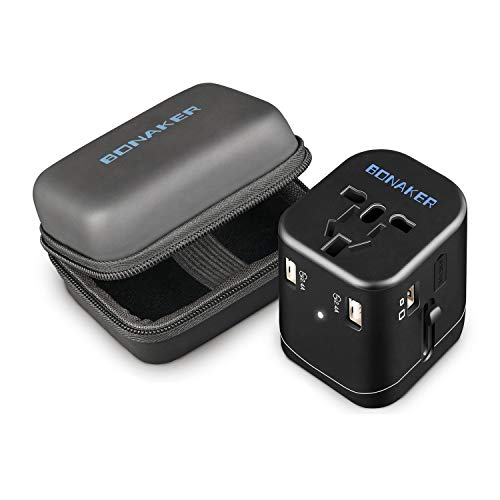 Travel Adapter 4.5A 4 USB Charging Worldwide All in One Universal Power...