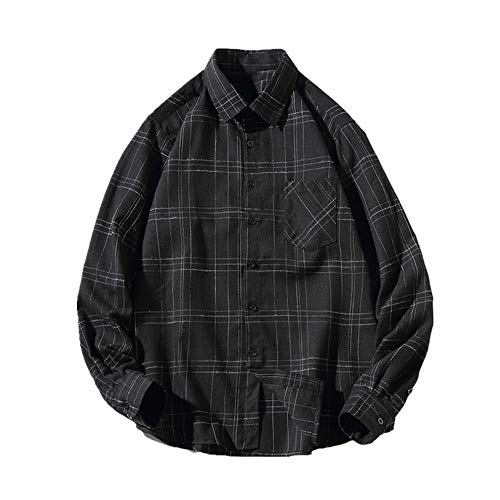 N\P Camisa de manga larga para hombre con camisa grande