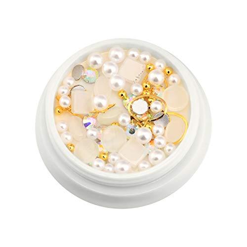 Beautybigang 1 boîte de bijoux en acier à dos plat, ronds et colorés pour cosmétiques, visage, corps, cheveux, ongles, visage, vêtements, chaussures, sacs