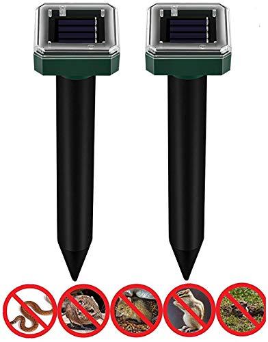 Koqit Solar Maulwurfabwehr, 10 Stück IP56 Ultrasonic Maulwurfschreck, Wühlmausvertreiber, Wühlmausschreck, Maulwurfbekämpfung, Tiervertreiber Maulwurffall Hundeschreck, für Garten