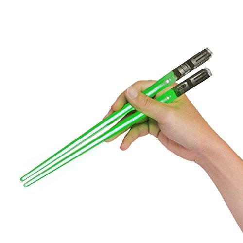Sabers Chop Lightsaber Led Light Up Chopsticks 1 Pair Skywalker Green