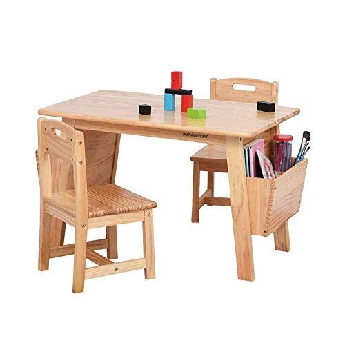 Kinder Schreibtisch Solidees Kindertisch Holz mit Lagerung, Deluxe Holz Aktivität Spieltisch for Kinder, Schreibtisch und Lehnenstuhl Spielzimmer/Tag/Vorschule Kindersitz