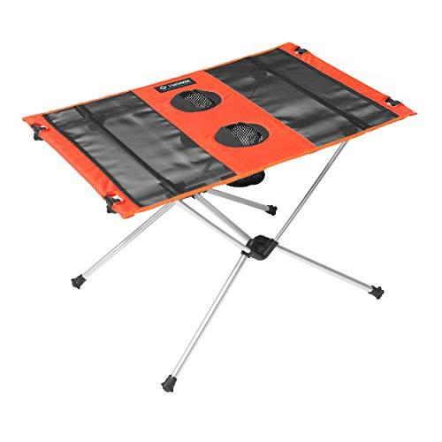 Helinox Table One,Campingtisch,Falt-Tisch,Getränkebehälter,leicht,stabil,faltbar,inkl Tragetasche,Crimson,one Size