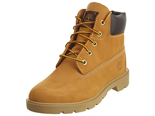 Timberland Unisex-Kid's 6 in Classic Boot Ankle, Wheat, 5 Medium US Big Kid