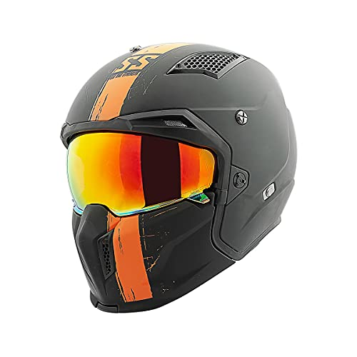 Speed & Strength SS2400 Tough As Nails Helmet (Large) (Black/Orange)