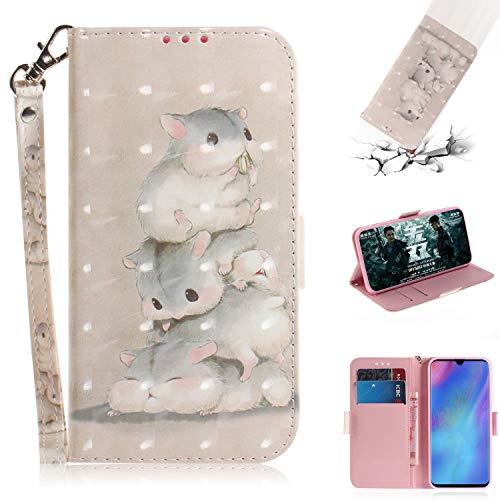 Best Price! Strap 3D Wallet Case for Huawei P30 Pro,Aoucase Ultra Slim Fancy Painted Magnetic Soft S...