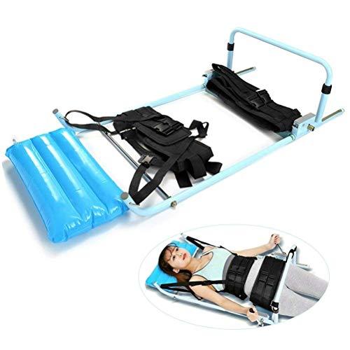COOYT Rückseiten-Rückenstreckverband, Halswirbelsäule Lendenwirbelsäule Traction Bett mit aufblasbaren Kissen, Lendenwirbel Zugkörper Dehnvorrichtung for Lumbago Low Back Pain