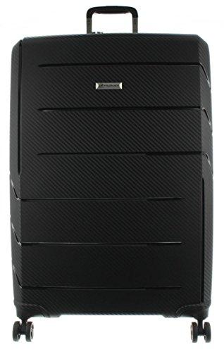 Franky Spinner Gr. L Koffer mit TSA-Zahlenschloss - Extra leichtes Polypropylen Schwarz