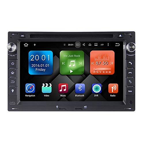 LINGJIE Navegación GPS Adecuada para Octa-Core Android 6.0.1 7'' Sat NAVS V W Passat 2011 DVD DVD Navigation Audio y Video, PX5