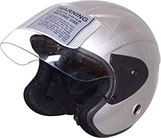 TRYFLY All Purpose Safety Helmet with Strap(NENO SILVER Free Size)