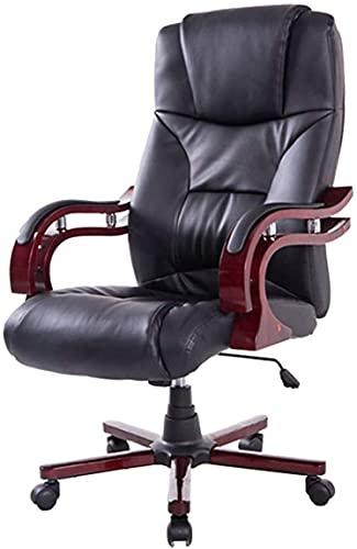 TAIDENG Silla de oficina moderna con respaldo medio, de piel sintética, alta ajustable, para escritorio de ordenador, estación de trabajo
