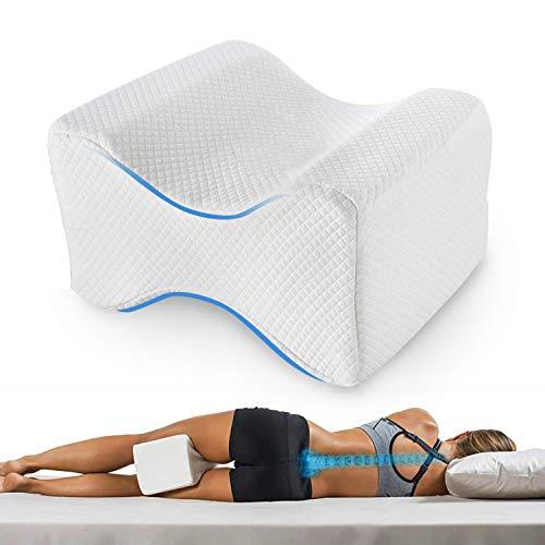 Kniekissen für Seitenschläfer, Kniekissen/Beinkissen zum Schlafen auf der Seite mit Memory-Schaum, Schwangerschaft Kniestützkissen Weiß
