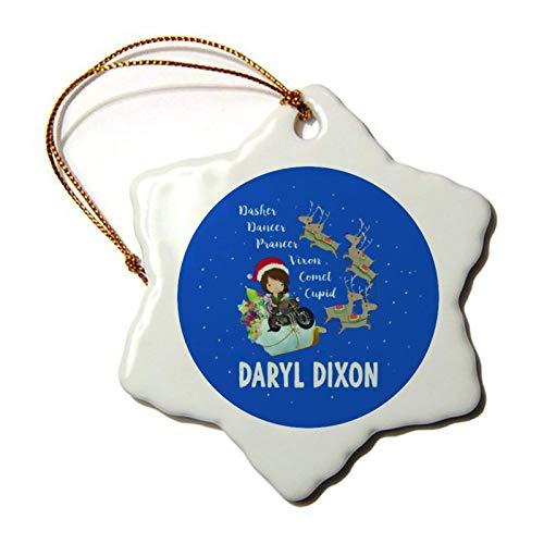 Custom Tree Ornament Xmas Ornament Santa Ornament Dasher Dancer Prancer Vien Comet Cupid Daryl Dixon The Walking Dead Parody Ceramic Ornament Christmas 2020