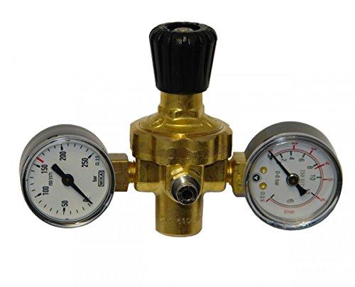 Oxyturbo Druckminderer Mignon für CO2 und Argon, für Einweg-Gasflaschen, Artikelnr. 225200