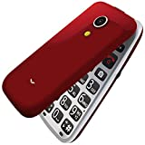 SENIOR WORLD Royale Sound Booster, 2.4-inch Flip Phone with 20+ Senior Citizen-friendly features like Loud Sound, Dock Charger, Photo Speed Dial, SOS button, App-based Remote (Red)
