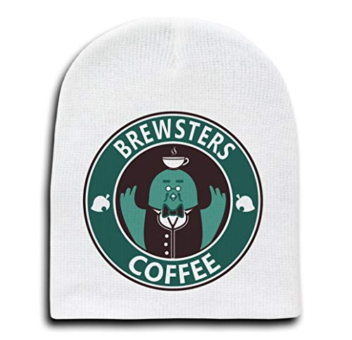 Bird Monster Coffee Pigeon Game Parody in Full Color Unity Candle - White Beanie Cap/Hat (A)