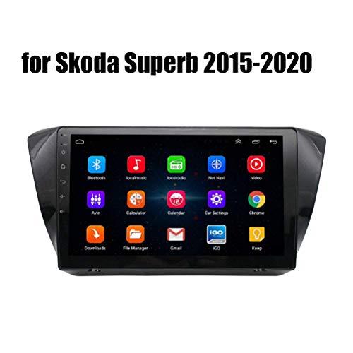 para Skoda Superb 2015-2020 Android 10.0 Car Stereo Radio Double DIN Sat Nav Navegación GPS Reproductor Multimedia con Pantalla táctil de 9 Pulgadas Receptor de Video con 4G DSP Carplay