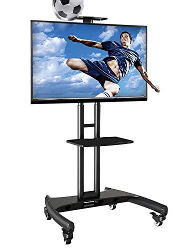 """Ergosolid El Soporte móvil de Suelo para Pantallas LCD, LED, Plasma y curvadas de 32"""" a 65"""" (81-165 cm) y hasta 45,5 kg, Negro"""