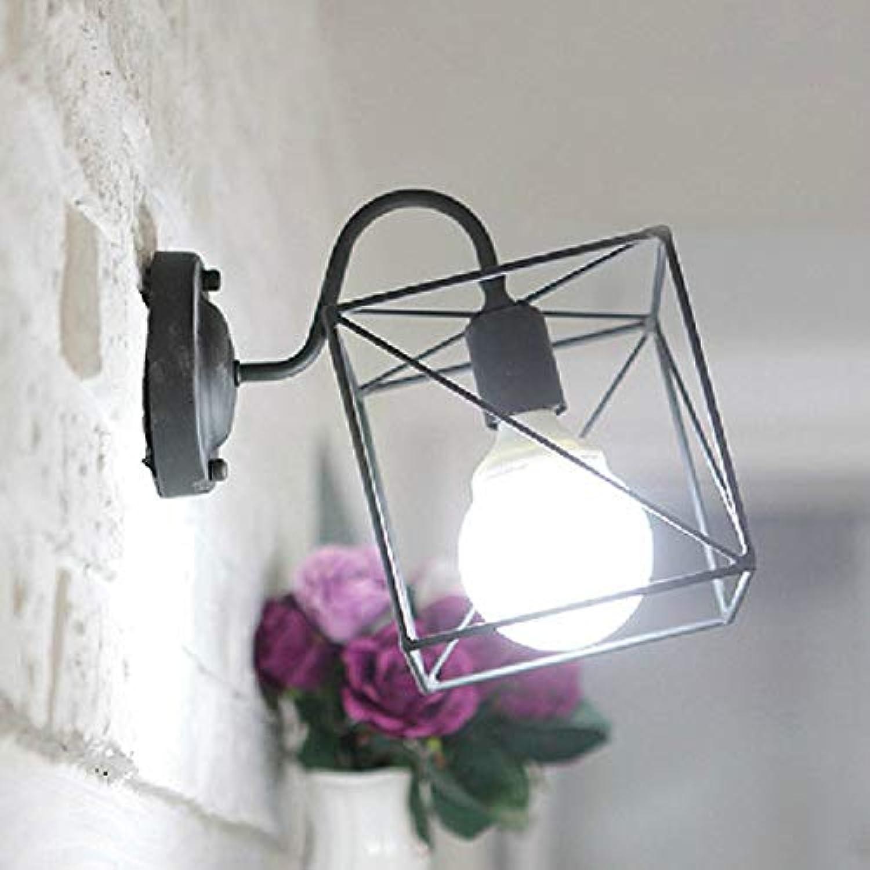 Creative Small Square Wall Lamp Iron Art Wall Light Modern