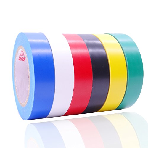 Electrical Insulation Tape, Assorted Colors, Each Roll is 0.6' x 50'...