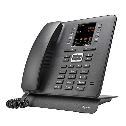 Gigaset T480HX - Schnurloses Telefon zum Anschluss an DECT-Basis - großes Farbdisplay - Datenaustausch über Bluetooth & Micro-USB - extragroßes Telefonbuch - einstellbare Audioprofile, schwarz