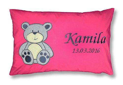 Amilian® Kissen 40 x 60 cm mit Namen Datum B5