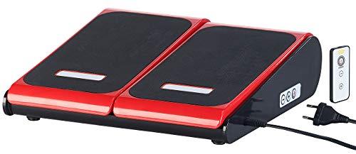 newgen medicals Vibrationsplatte: Vibrations-Fußplatte zur Entspannung bei Tätigkeiten im Sitzen, 60 W (Fussvibrationsplatte)