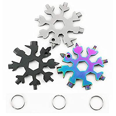 18-in-1 Incredible Snowflake Multi-Tool Easy N Genius Stainless Steel Combination Compact Portable Outdoor Tool Father's Day Gift Christmas Present
