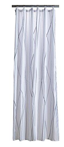 Zone Denmark 381109Polyester Grau, Weiß Duschvorhang Vorhang Dusche Bedruckt, Polyester, Grau, Weiß, 2m, 1800mm