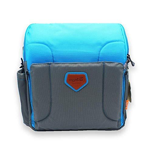 Haioo Asiento Alzador Elevador de Viaje Portátil para Bebé, 2 en 1 Trona Plegable + Bolso de Viaje para Bebé, Silla Elevadora Portátil para Bebés y Niños (Azul)
