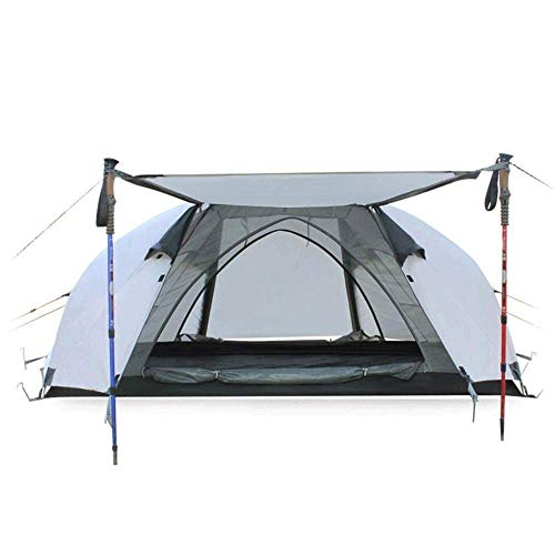 Henseek Stable Compact Layer Outdoor Lightweight Tent Waterproof Wind Proof for Hiking Mountaineering 215cm*135cm*110cm,Easy to Install Portable