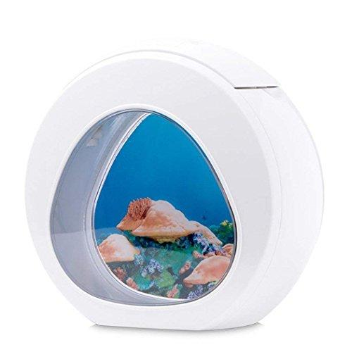 CNMF kleine aquarium tafellamp, nano aquarium/klein aquarium/garnalen aquarium/aquarium klein/super aquarium, in kantoren, thuis, restaurants, openbare plaatsen, enz.