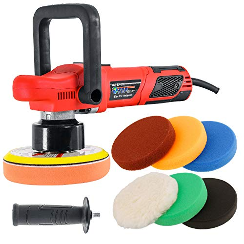 """TCP Global Model EP-502-6"""" Variable Speed Random Orbit Dual-Action Polisher with a 6 Pad Professional Buffing and Polishing Kit - Buff, Polish & Detail Car Auto Paint"""