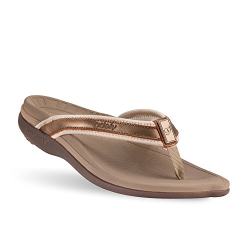 Gravity Defyer Mary Women's Sandals Brown 8 M Most Comfortable Sandals with Arch Support Plantar Fasciitis Shoes