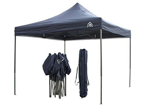 All Seasons Gazebos, 3x3m Heavy Duty, Fully Waterproof, PVC Coated, Premium Pop up Gazebo, Comes with Carry Bag With Wheels and 4 x Leg Weight Bags (Navy Blue)