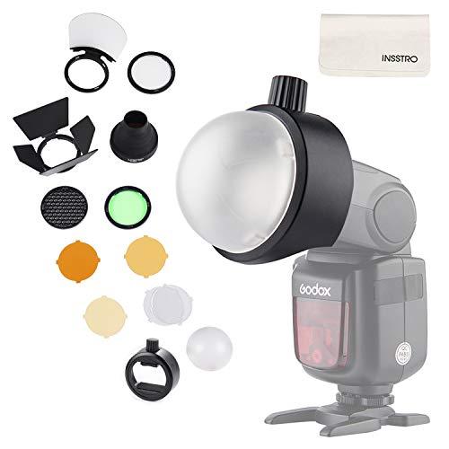 Godox Kit S-R1 e AK-R1 Flash Diffusore Light Softbox Speedlite Flash Accessori con supporto universale Adpater per Canon, per Nikon, per Sony Speedlight