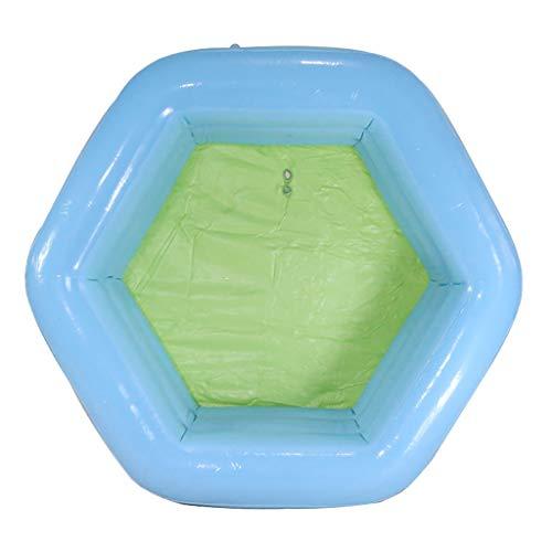 gujiu Hexagonal Piscina Inflable, Piscina Infantil del bebé, 130 * 130 * 50cm