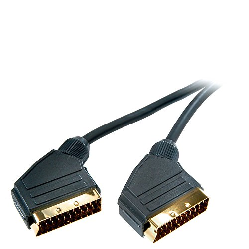 Vivanco Audio-/Videokabel (Scartkabel, Verbindungskabel, Scartstecker zu Scartstecker, vollverschaltet, vergoldete Kontakte 1,2 m)