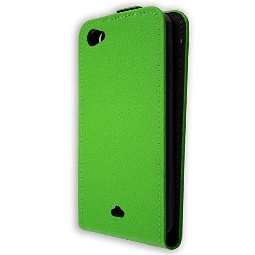 caseroxx Flip Cover für Wiko Jimmy, Tasche (Flip Cover in grün)