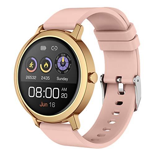 N \ A Relojes Inteligentes para Hombres y Mujeres, Pantalla táctil Completa de 1.3', IP67 a Prueba de Agua, rastreador de Actividad con sueño, Reloj Inteligente para teléfonos Android iOS (Verde)