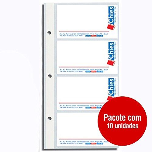 Refil Porta Cartões Pacote com 10 Folhas Chies