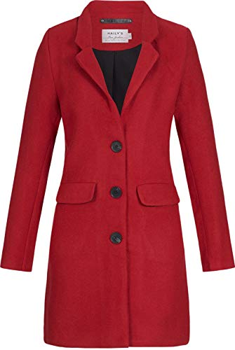 Hailys Damen Jacke Mantel Selin Reverskragen NO-1712010 red M