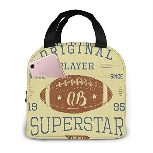 Tyueu Football Quarterback Superstar Brotdose for Women Stylish Lunch Tragetaschen Isolierte Lunch-Tasche Lunch Bag Insulated Lunch Container
