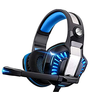 Gaming Headset for Xbox One,PS4,PC,Laptop,Tablet with Mic,Pro Over Ear Headphones,Noise Canceling,USB Led Light,Stereo Bass Surround for Kids,Mac,Smartphones