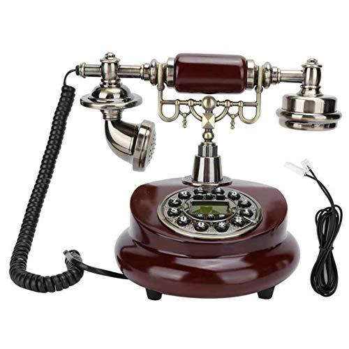 Teléfono fijo con cable, teléfono con botones grandes, teléfonos fijos de sobremesa Teléfono fijo con cable antiguo Teléfono fijo retro antiguo con función de flash para volver a marcar para el hotel