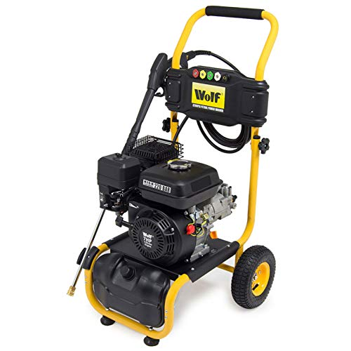 Wolf 220BAR Petrol Pressure Washer 3200psi 7HP 4-Stroke Engine with Quick Fit Nozzles & 6m Hose