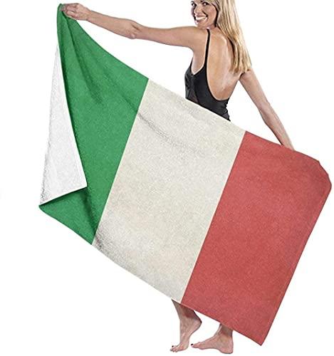 Strandtücher Mikrofaser,Italien Flagge Großes Badetuch Leichtes Strandtuch Ideal Für Familienhotels Reisen Schwimmen Fitness Sport