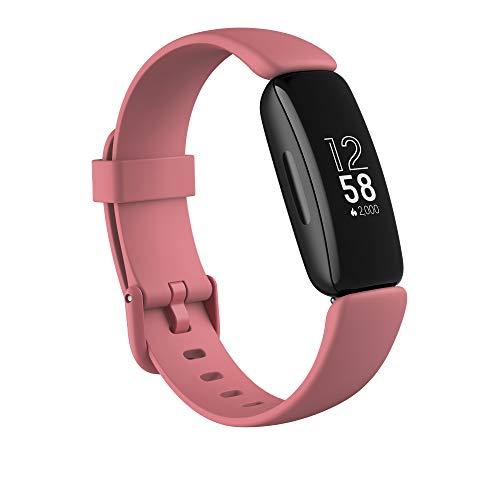 Fitbit Inspire 2 - Pulsera de salud y actividad física con ritmo cardiaco continuo, 1 año del servicio Fitbit Premium incluido y 10 días de batería, Rosa Pomelo
