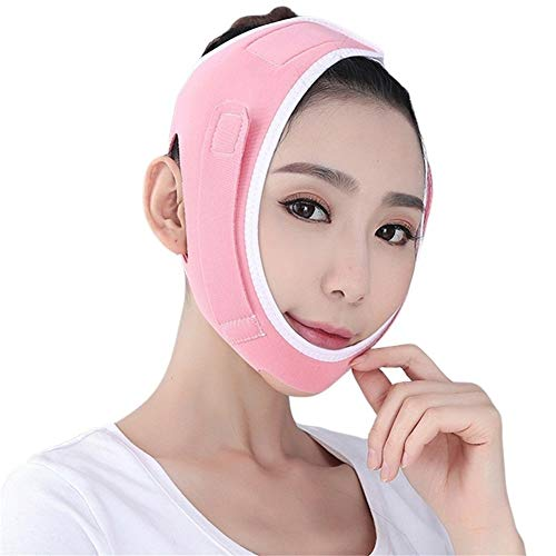 3°Amy Bandage Lifting Mince Bande Visage Bandage Visage Cheek Chin Lift Up Slim Visage Masque de Sommeil de Sommeil Bande Visage Mince Bande élastique (Color : Pink)